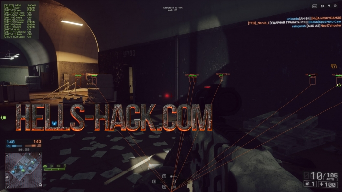 BF4 - hBattle Hack (AIMBOT,ESP,NORECOIL) [22.12.2016]